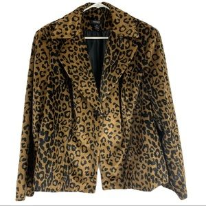 Style & Co Leopard Print Blazer
